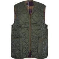 Barbour Mens Quilted Waistcoat Zip-In Liner Olive 36