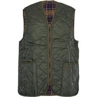 Barbour Mens Quilted Waistcoat Zip-In Liner Olive 34