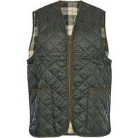 Barbour Mens Quilted Waistcoat Zip-In Liner Olive/Ancient Tartan 34