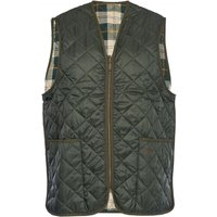 Barbour Mens Quilted Waistcoat Zip-In Liner Olive/Ancient Tartan 36