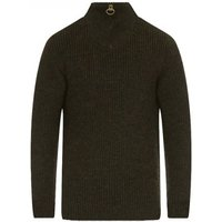 Barbour New Tyne Half Zip Sweater Olive Medium