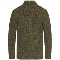 Barbour New Tyne Half Zip Sweater Derby Tweed Small