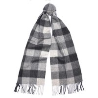 Barbour Unisex Large Tattersall Scarf Charcoal/Grey