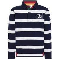 Lazy Jacks LJ78C Striped Rugby Shirt Marine 1-2 Years