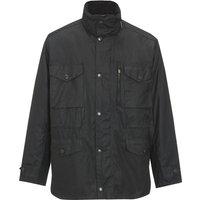 Barbour Mens Sapper Wax Jacket Black Medium