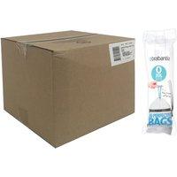 Brabantia Bin Liners Boxed Dozen Deal Packs 120 240 Bags  30L O Cyan