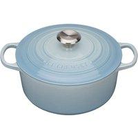 Le Creuset 24cm Cast Iron Round Casserole Coastal Blue