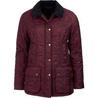 Barbour Womens Beadnell Polarquilt Jacket Aubergine 16