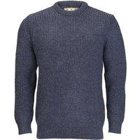 Barbour New Tyne Crew Neck Sweater Denim Large