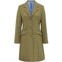Alan Paine Womens Combrook Tweed Mid Length Coat Aspen 16