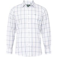 Alan Paine Mens Ilkley Shirt Blue Check Medium