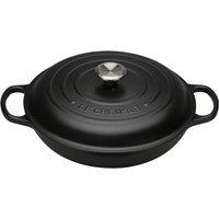 Le Creuset 30cm Cast Iron Shallow Casserole Satin Black