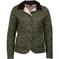 Barbour Womens Deveron Polarquilt Jacket Olive 12