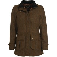 Barbour Womens Fairfield Wool Coat Honey Mustard 14