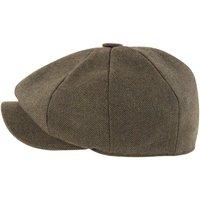 Schoffel Mens Newsboy Cap Loden Green Herringbone Tweed 56cm (6 7/8)