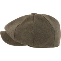 Schoffel Mens Newsboy Cap Loden Green Herringbone Tweed 58cm (7 1/8)