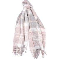 Barbour Tartan Boucle Scarf Soft Pink/Grey