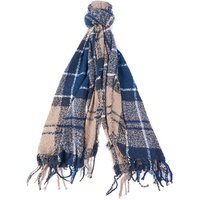 Barbour Tartan Boucle Scarf Blue Trench