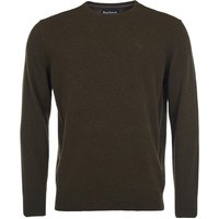 Barbour Mens Essential Lambswool Crew Neck Sweater Seaweed Small