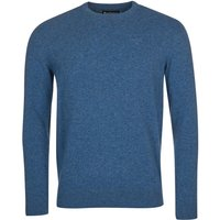 Barbour Mens Essential Lambswool Crew Neck Sweater Denim Marl Small