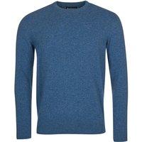 Barbour Mens Essential Lambswool Crew Neck Sweater Denim Marl Medium