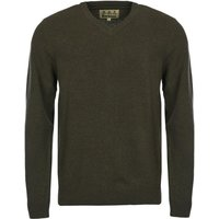 Barbour Mens Nelson Essential V Neck Jumper Seaweed Small