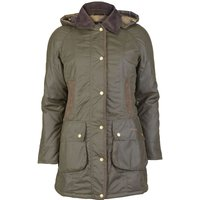 Barbour Womens Bower Wax Jacket Olive 8