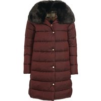 Barbour Womens Portabello Quilted Jacket Dk Plum/Hessian Tartan 16