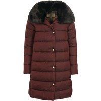 Barbour Womens Portabello Quilted Jacket Dk Plum/Hessian Tartan 18