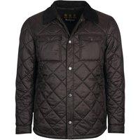 Barbour Mens Shirt Quilted Jacket Black Medium