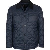 Barbour Mens Shirt Quilted Jacket Navy XXL