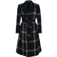 Barbour Womens Killin Tartan Wool Jacket Navy Check 8