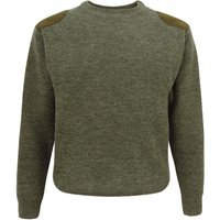 Hoggs Of Fife Mens Melrose Hunting Pullover Soft Marled Green XXL