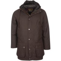Barbour Mens Hooded Beaufort Wax Jacket Rustic/Winter Red Small