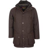 Barbour Mens Hooded Beaufort Wax Jacket Rustic/Winter Red XL