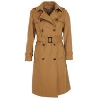 Barbour Womens Melrose Wool Coat Hessian 16