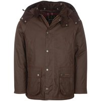 Barbour Mens Winter Bedale Wax Jacket Rustic/Winter Red Small
