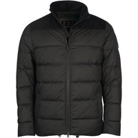 Barbour Mens Rift Quilted Jacket Black Medium