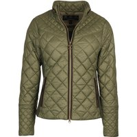 Barbour Womens Grassmere Quilted Jacket Olive/Green Pink Tartan 8