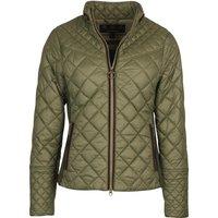 Barbour Womens Grassmere Quilted Jacket Olive/Green Pink Tartan 14