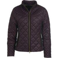 Barbour Womens Grassmere Quilted Jacket Elderberry/Green Pink Tartan 14
