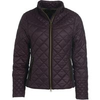 Barbour Womens Grassmere Quilted Jacket Elderberry/Green Pink Tartan 16