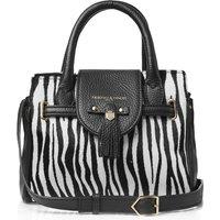 Fairfax and Favor Womens Mini Windsor Handbag Zebra Half Calf