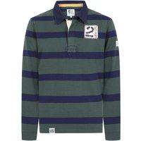 Lazy Jacks Mens LJ78 Long Sleeve Striped Rugby Shirt Khaki Large