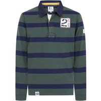 Lazy Jacks Mens LJ78 Long Sleeve Striped Rugby Shirt Khaki XXL