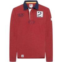 Lazy Jacks Mens LJ76 Plain Rugby Top Red Medium