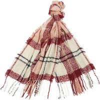 Barbour Tartan Boucle Scarf Pink/Hessian