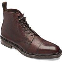 Loake Mens Roehampton Boots Oxblood Grain Calf Leather 10.5