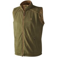 Harkila Mens Sandhem Fleece Waistcoat Olive Green Medium