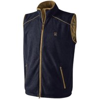 Harkila Mens Sandhem Fleece Waistcoat Navy Medium